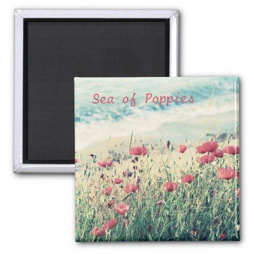Sea of Poppies Fridge Magnets