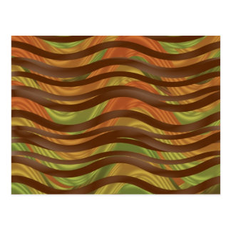 Sea of Ribbons in Autumn Brown Postcard