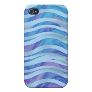 Sea of Ribbons in Blue & Purple Case For iPhone 4