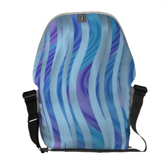 Sea of Ribbons in Blue & Purple Courier Bag