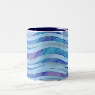 Sea of Ribbons in Blue Purple Mug