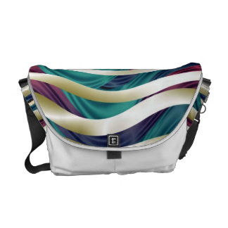 Sea of Ribbons in Gold, Blue & Purple Courier Bag