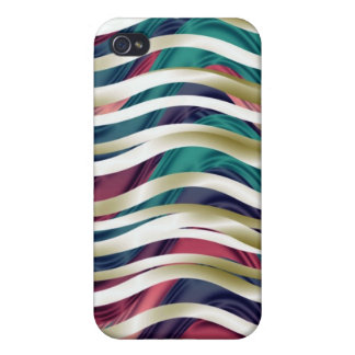 Sea of Ribbons in Gold, Blue & Purple iPhone 4 Cover