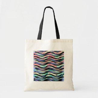 Sea of Ribbons in Violet, Pink & Sea Green Tote Bag