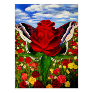 Sea of roses by Lenny clouds surreal Postcard