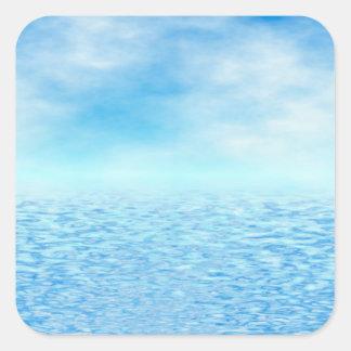 Sea of Serenity Square Sticker