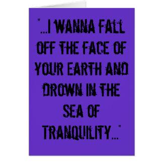 """Sea of Tranquility"" lyrics card"
