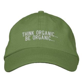 Sea orgánico… gorra de béisbol
