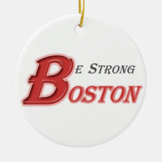 Sea ornamento fuerte de Boston Adorno Navideño Redondo De Cerámica