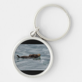 sea otter and baby keychains