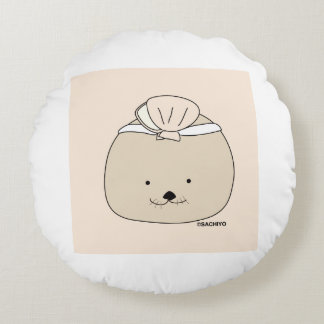 """Sea otter """"and others -"""" round cushion"""