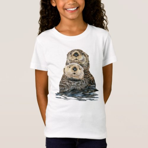 Sea Otter and Pup T_shirt