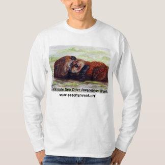 Sea Otter Awareness Week Long Sleeve Shirt Mens