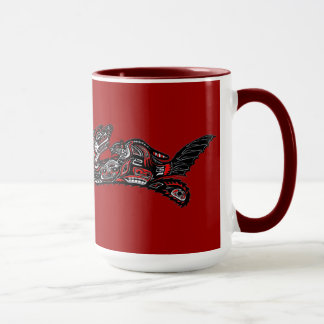 SEA OTTER & BABY (Haida Styled) Art Gift Mug