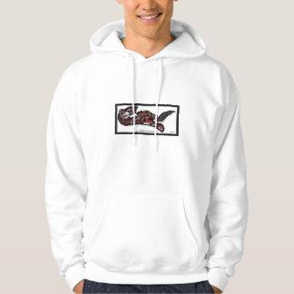 SEA OTTER & BABY (Haida Styled) Gift Range Hooded Sweatshirt