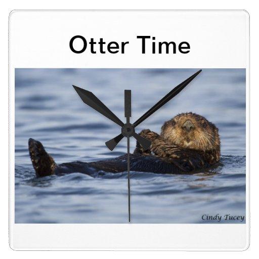 Sea Otter Clock
