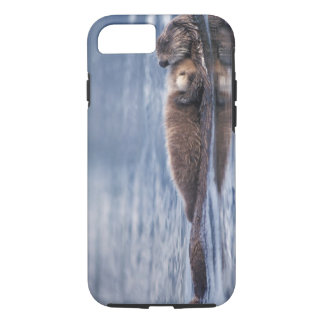 sea otter, Enhydra lutris lutris, mother with 2 iPhone 7 Case