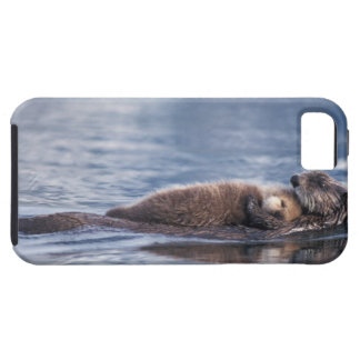 sea otter, Enhydra lutris lutris, mother with 2 iPhone SE/5/5s Case