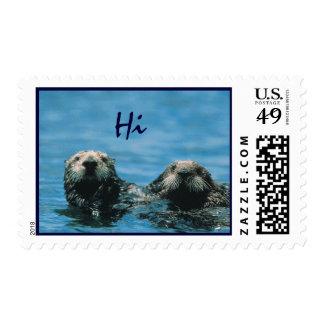 Sea Otter Hi Postage Stamps