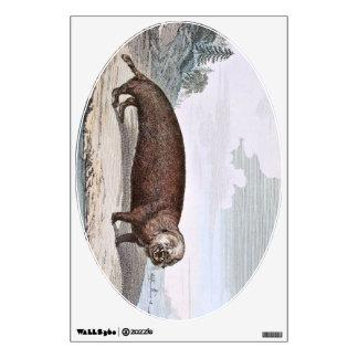 Sea Otter Illustration Wall Sticker