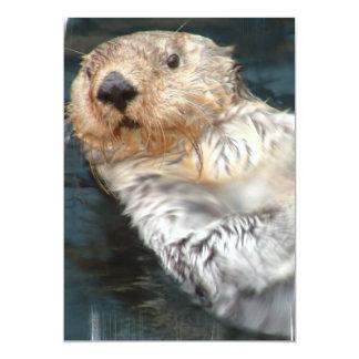 """Sea Otter Invitation 5"""" X 7"""" Invitation Card"""