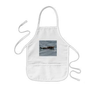 sea otter kids' apron