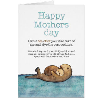 Sea otter mothers day card