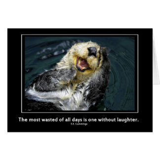 Sea otter motivational cards