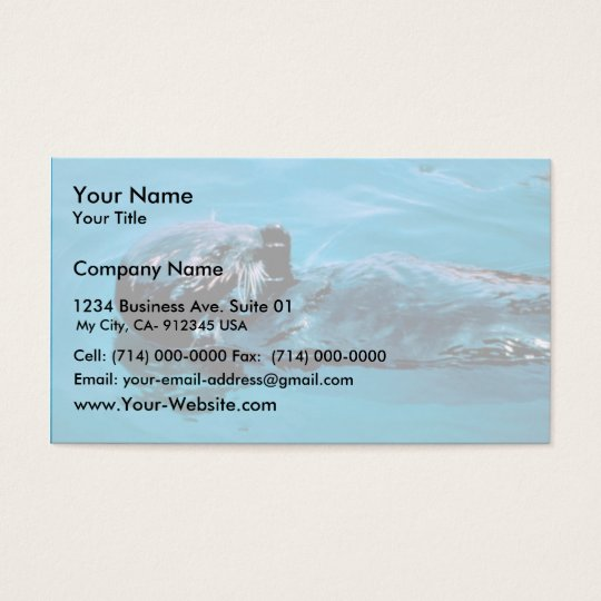 Sea Otter oil Business Card