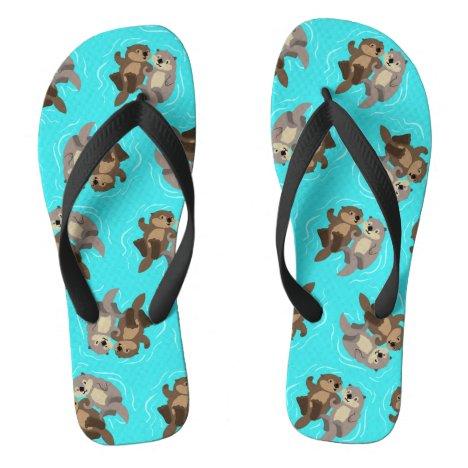 Sea Otter Pals Flip Flops