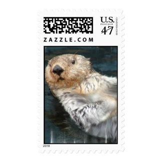 Sea Otter Postage Stamp