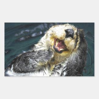 Sea Otter Rectangular Sticker