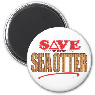 Sea Otter Save 2 Inch Round Magnet