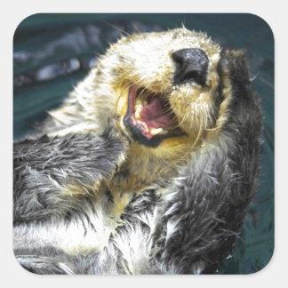 Sea Otter Square Sticker
