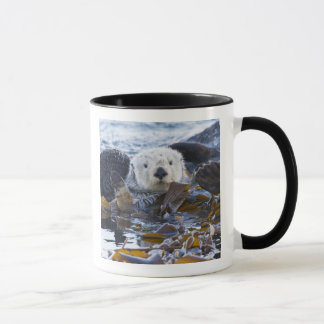 Sea otter wrapped in kelp mug