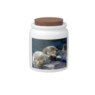 Sea-otters Candy Jar