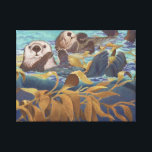 "sea otters canvas print<br><div class=""desc"">sea otters &quot;Keepers of the Kelp&quot;</div>"