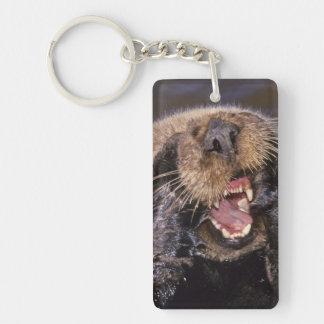 Sea Otters, Enhydra lutris 6 Double-Sided Rectangular Acrylic Keychain