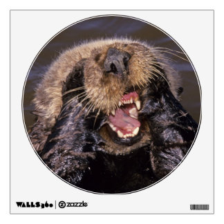 Sea Otters, Enhydra lutris 6 Wall Decal