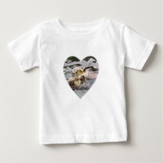 Sea Otters Holding Hands Baby T-Shirt