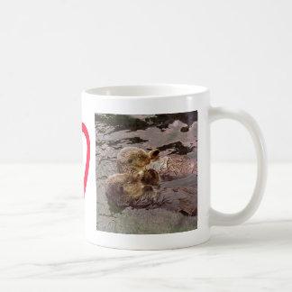 Sea Otters Holding Hands Coffee Mug