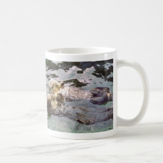 Sea Otters Holding Hands Coffee Mug