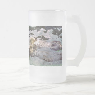 Sea Otters Holding Hands Mugs