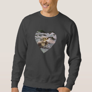 Sea Otters Holding Hands Sweatshirt
