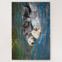 Sea Otters. Jigsaw Puzzle
