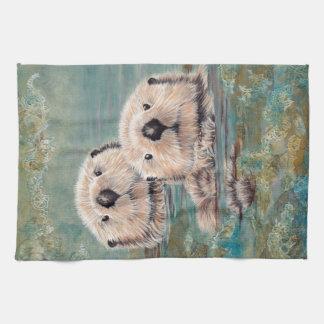 Sea Otters Kitchen Towel