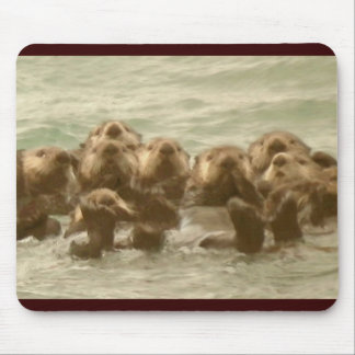 Sea Otters Mouse Pad