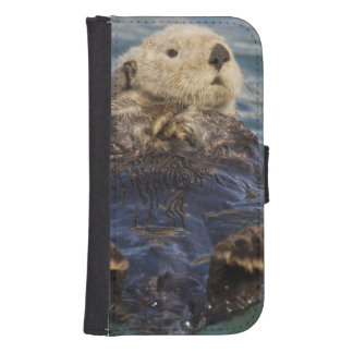 Sea otters play on icebergs at Surprise Inlet Samsung S4 Wallet Case