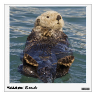 Sea otters play on icebergs at Surprise Inlet Wall Sticker