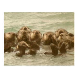 Sea Otters Postcard